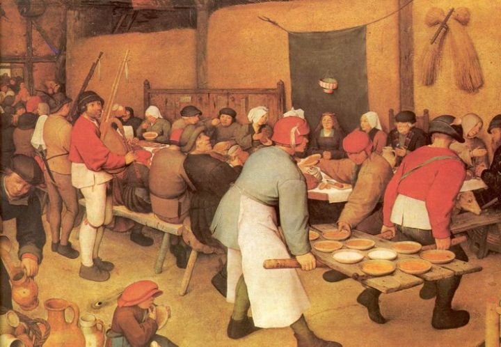 Pieter Bruegel the Elder - The Peasant Wedding Banquet (1567)